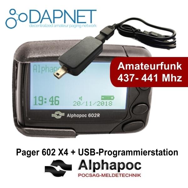 Alphapoc 602R X4 Amateurfunk 437 - 441 Mhz Pager Meldeempfänger