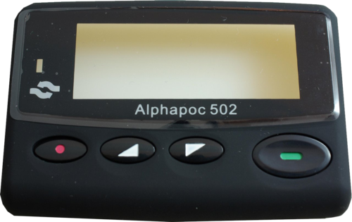 Alphapoc 502 front with display window